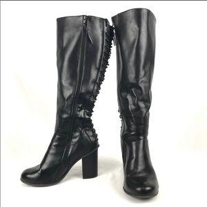 Torrid Lace Up Back Heel Boots